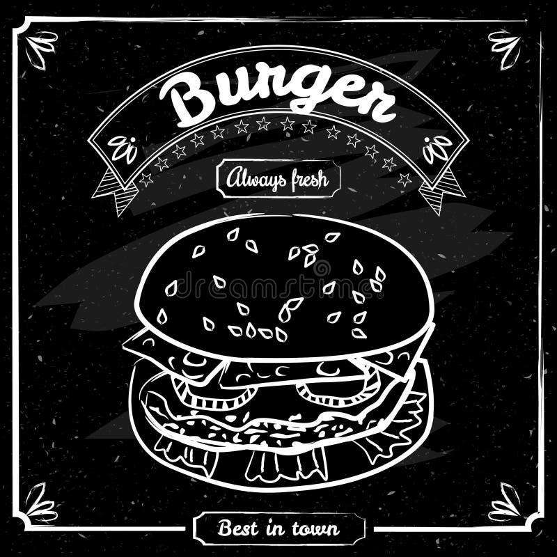Karmowy menu dla restauraci i kawiarni Projekta szablon z pociągany ręcznie graficznymi elementami w doodle stylu Wektor, odizolo royalty ilustracja