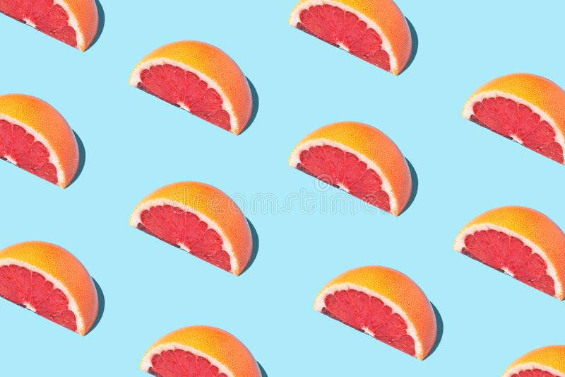 Karmowy mody jedzenia wzór z grapefruits zdjęcia stock