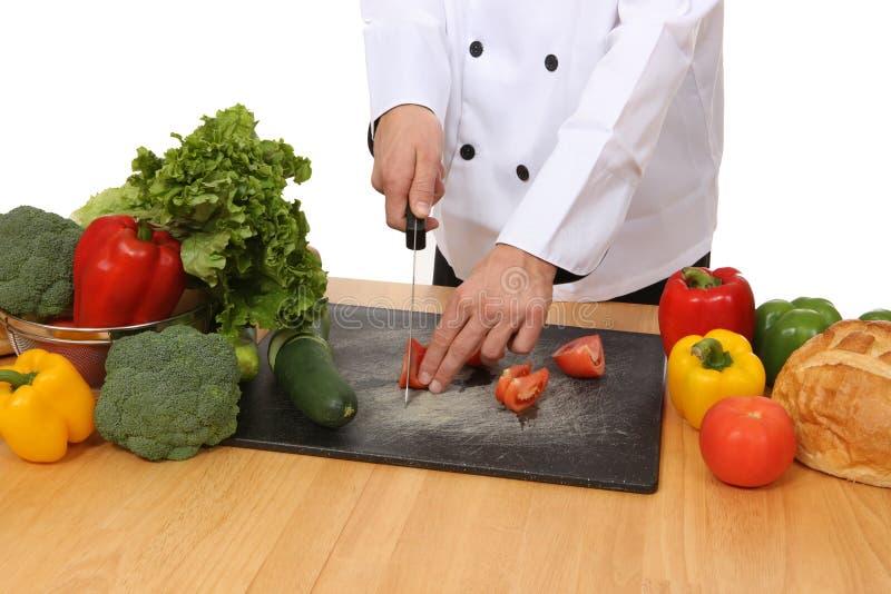 karmowy szef kuchni narządzanie zdjęcie stock