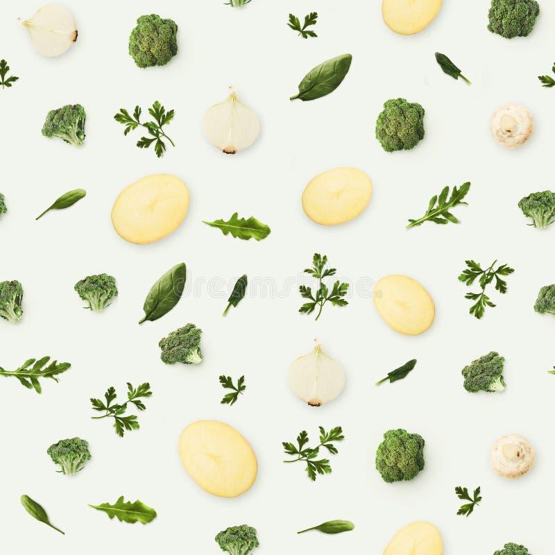 Karmowy tło i wzór owoc i warzywo fotografia royalty free