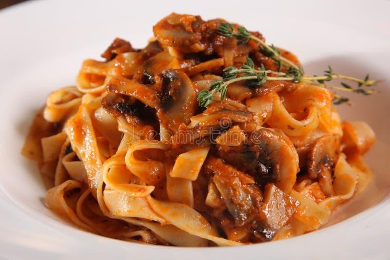 karmowy włoski makaron zdjęcie royalty free