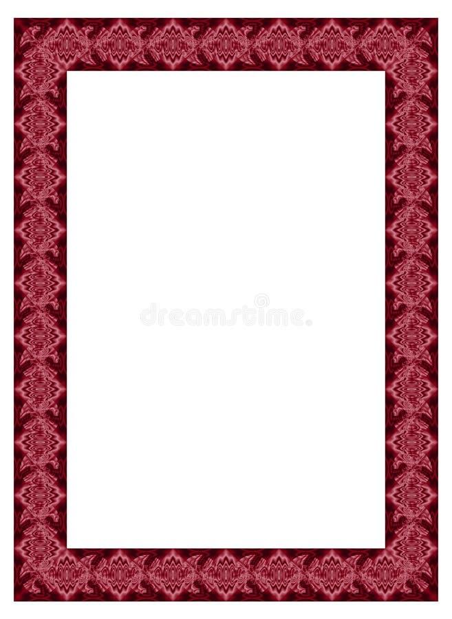 Karmozijnrood Fractal Frame Royalty-vrije Stock Afbeelding
