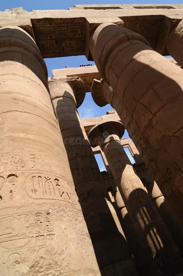 Karnak, Ägypten stockbilder