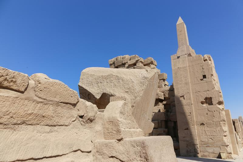 Karnak świątynia - Egipt fotografia stock