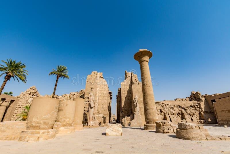 Karnak świątynia w Luxor, antyczny Thebes, Egipt fotografia royalty free