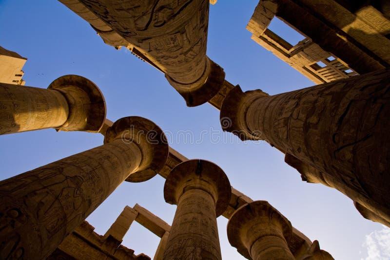 Karnak Świątynny hipostyl Hall fotografia royalty free
