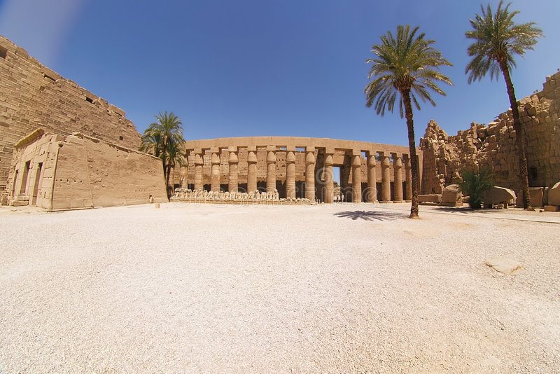 Karnak - Egipto imagens de stock