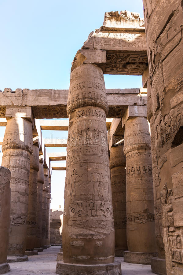 karnak egiptu Luxor świątyni fotografia stock