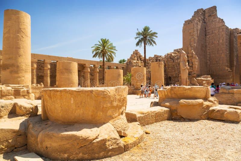 Karnak tempel av Luxor, Egypten arkivfoton