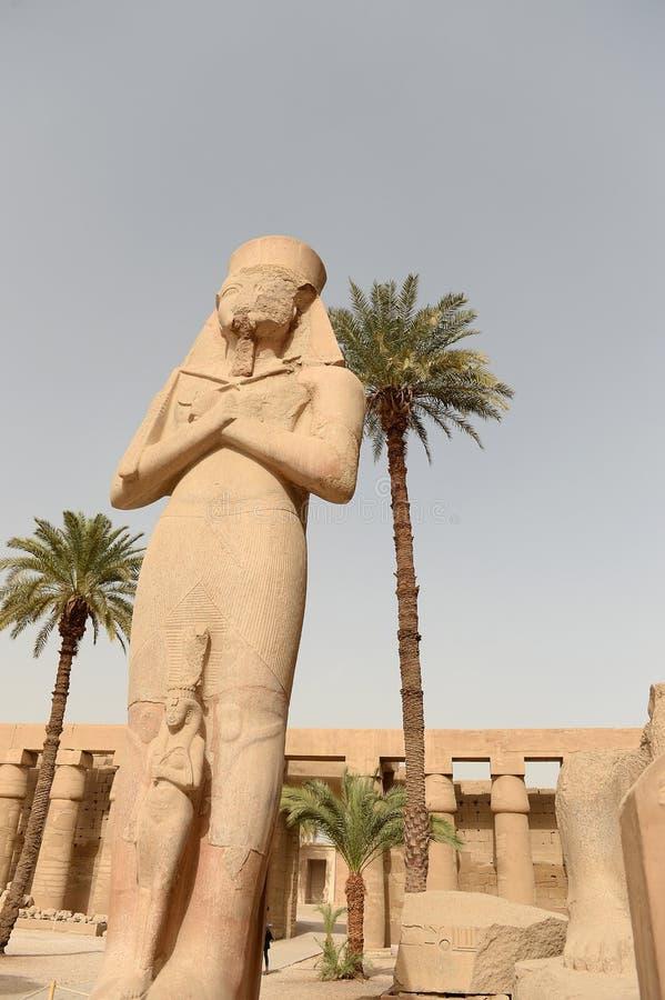 Karnak-Tempel in Luxor Ägypten lizenzfreies stockbild
