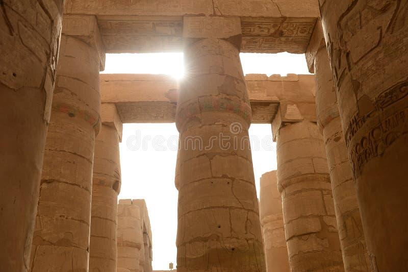 Karnak-Tempel in Luxor Ägypten lizenzfreie stockfotografie