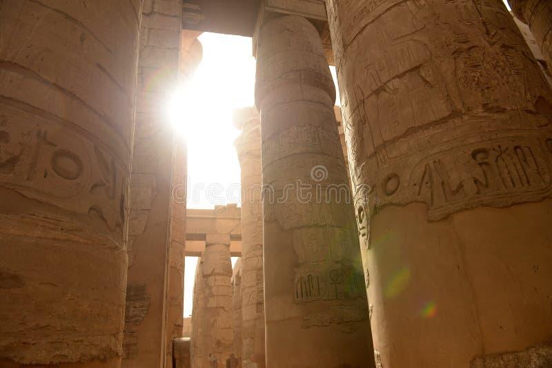 Karnak-Tempel in Luxor Ägypten lizenzfreies stockfoto