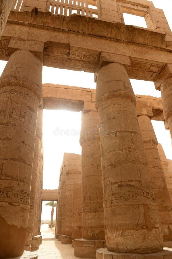 Karnak-Tempel in Luxor Ägypten stockbilder