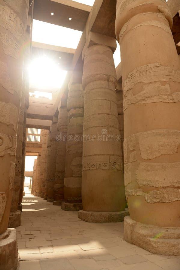 Karnak-Tempel in Luxor Ägypten stockfotos