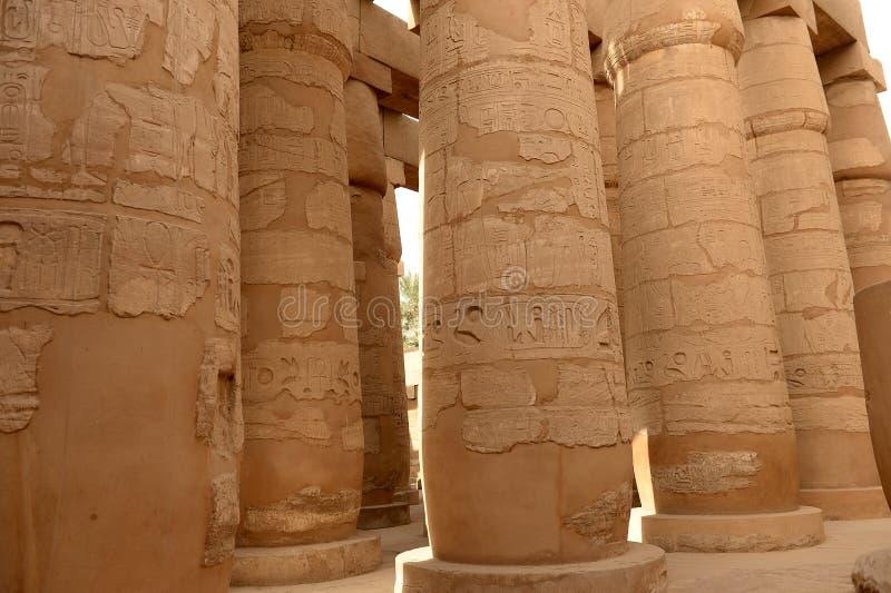 Karnak-Tempel in Luxor Ägypten stockfotografie