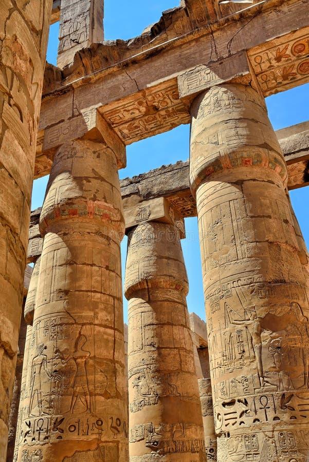 Karnak Tempel, Luxor, Ägypten stockbild
