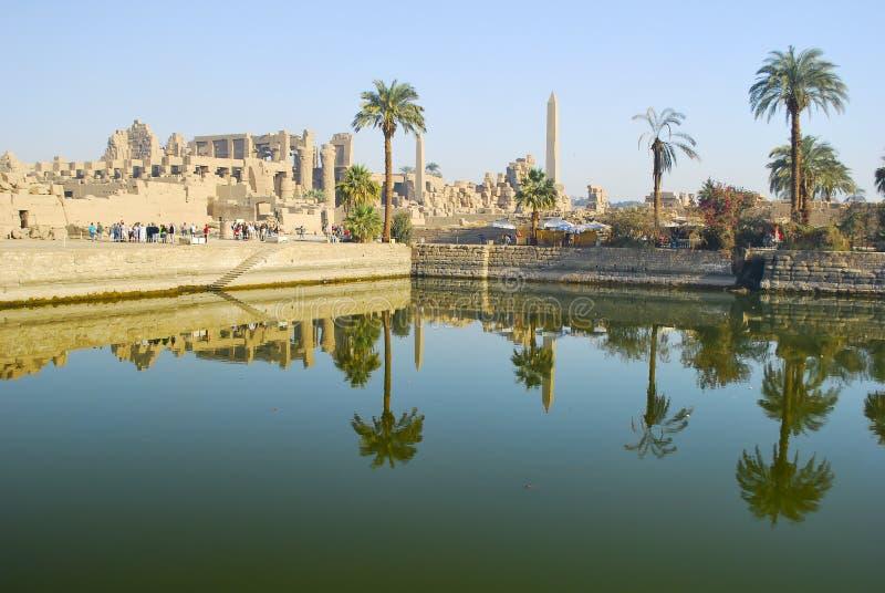 Karnak-Tempel - Luxor - Ägypten lizenzfreies stockbild
