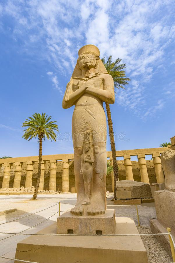 Karnak Temple Complex, Egypt. Remains of the Karnak Temple Complex near Luxor city in Egypt royalty free stock images