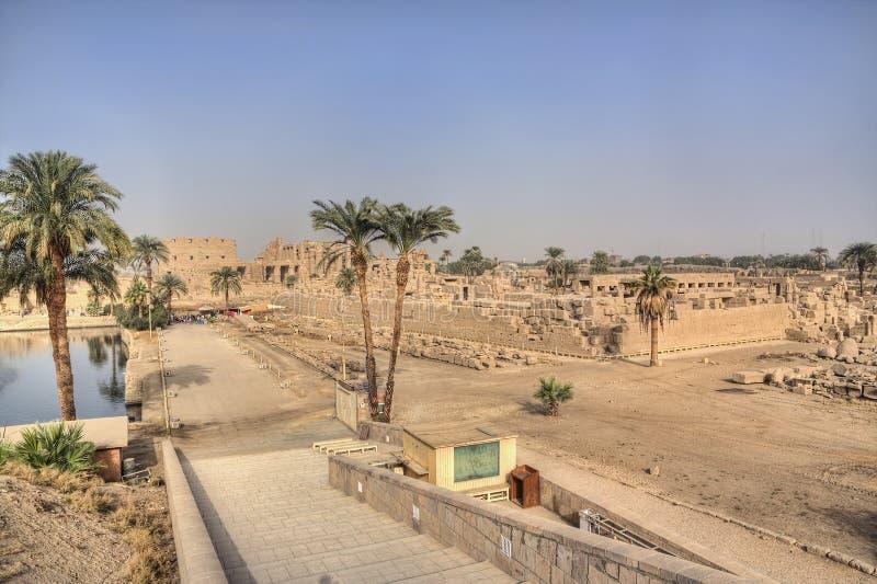 Karnak temple in Egypt. (Luxor royalty free stock image