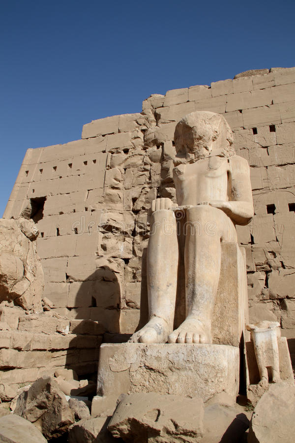 Karnak Temple Egypt. New additions to the Karnak Temple in Luxor Egypt stock image