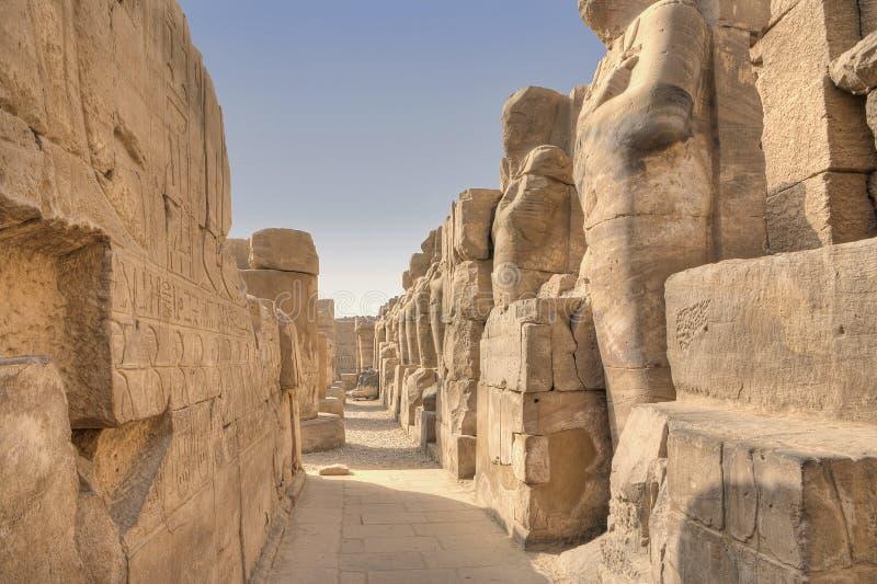Karnak temple in Luxor. Egypt stock photo