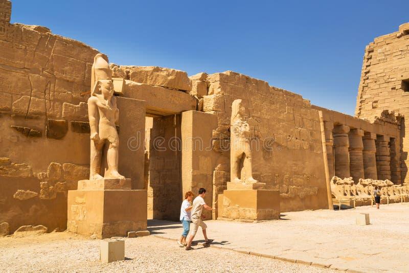 Karnak temple in Luxor, Egypt stock photography