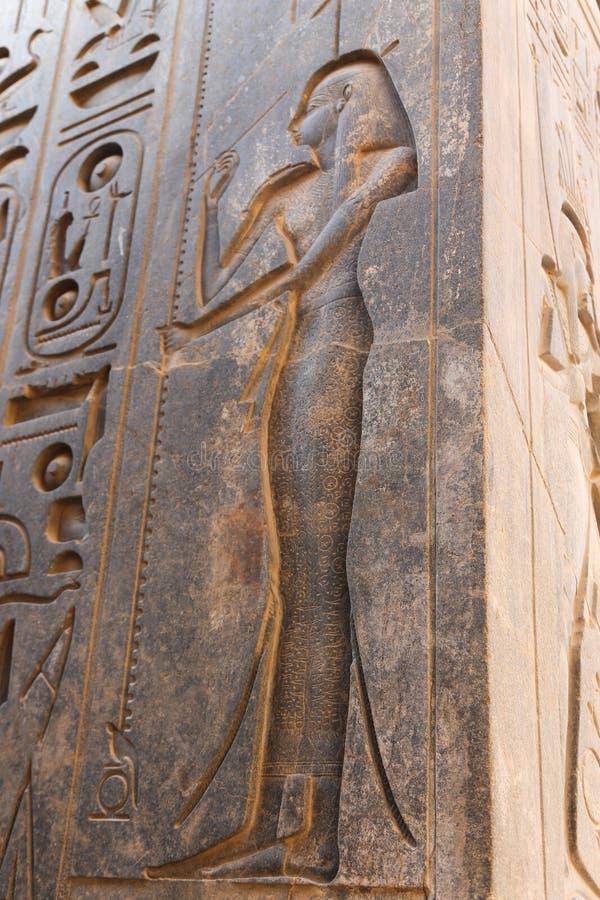 Karnak Temple at Luxor - Egypt stock photo