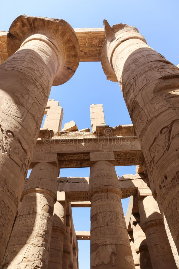 Queen at Karnak Temple - Egypt. Karnak Temple at Luxor - Egypt Karnak temple - Most huge temple at Egypt royalty free stock photo