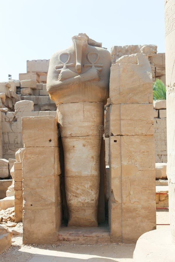 Statue at Karnak temple. Karnak Temple at Luxor - Egypt Karnak temple - Most huge temple at Egypt royalty free stock photo