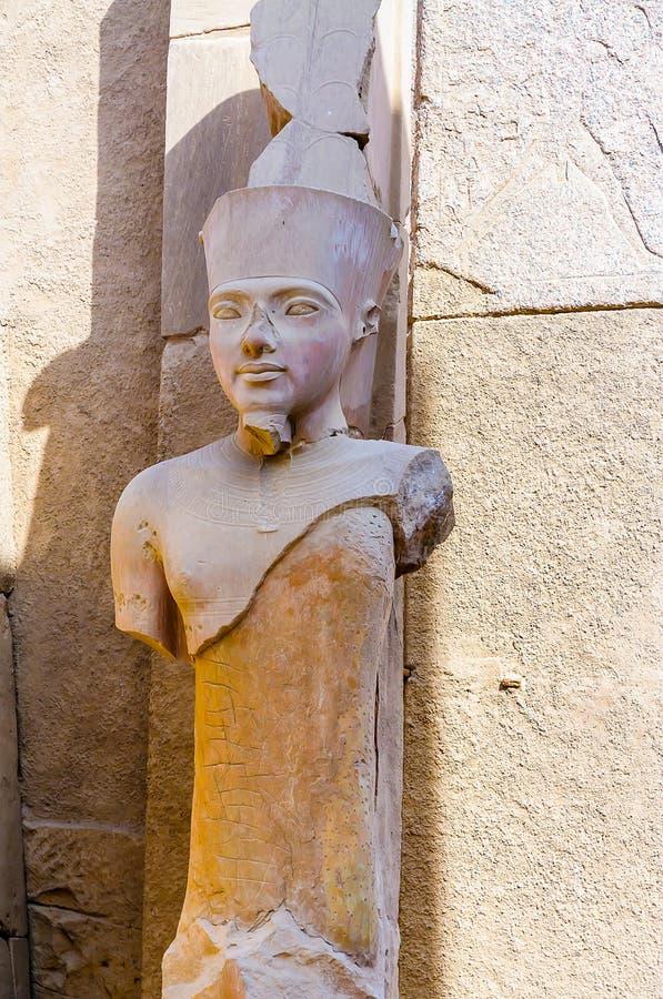 Karnak temple in Luxor, Egypt. Statue of Amun Ra. The Karnak temple in Luxor, Egypt. Statue of Amun Ra stock images