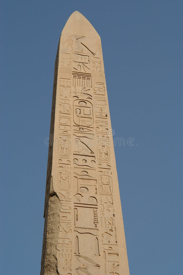 Download Karnak Temple obelisk stock image. Image of history, hieroglyphics - 19057
