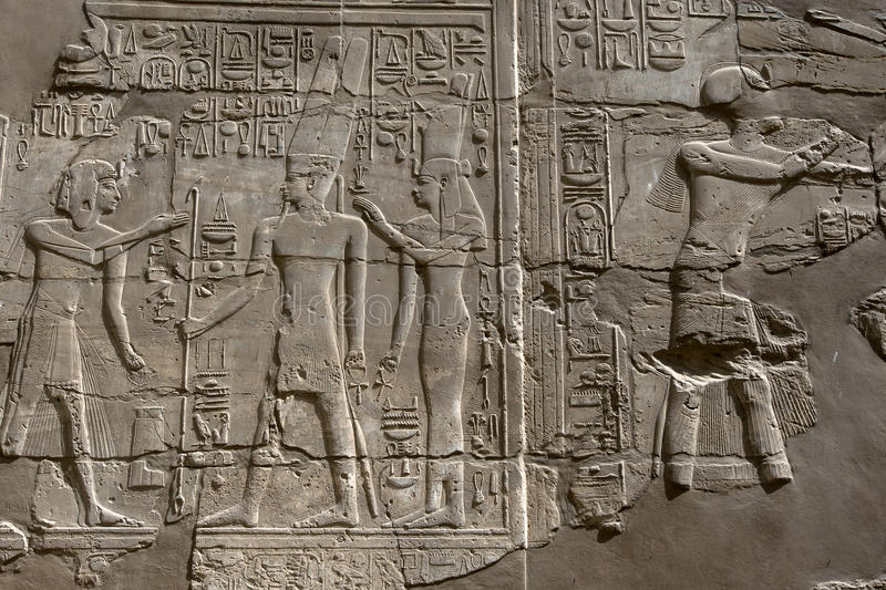 The Karnak Temple (Temple of Amun) in Luxor, Egypt. royalty free stock photos