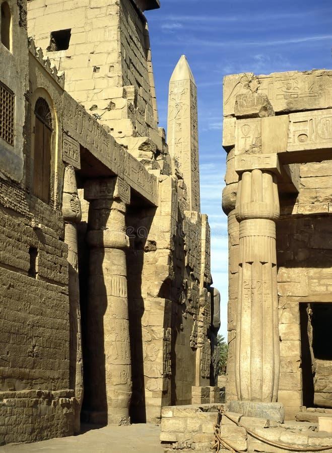 karnakluxor tempel royaltyfria bilder