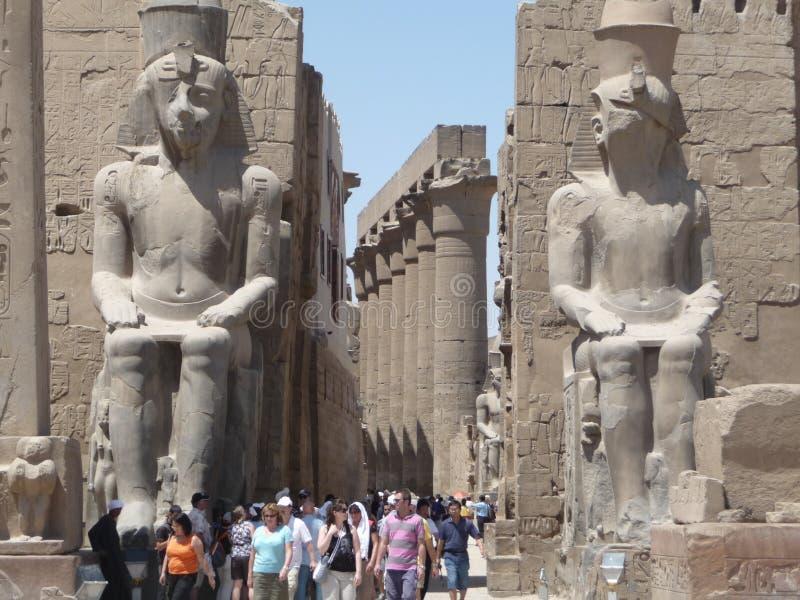 Karnaktempel Luxor stock fotografie