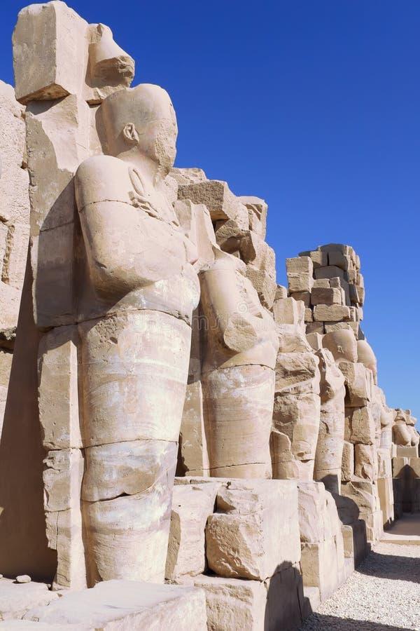 Karnaktempel, Luxor, Egypte. stock afbeelding