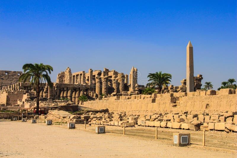 Karnaktempel, Luxor, Egypte royalty-vrije stock foto's