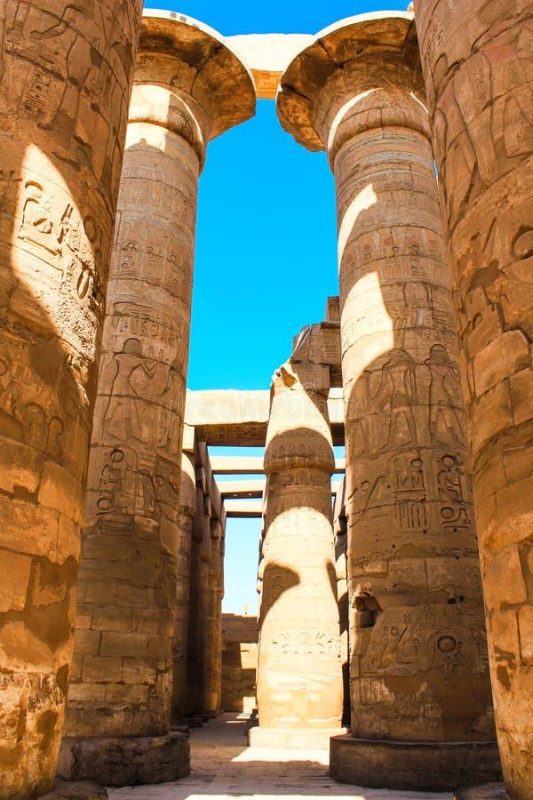 Karnaktempel, Luxor, Egypte stock fotografie