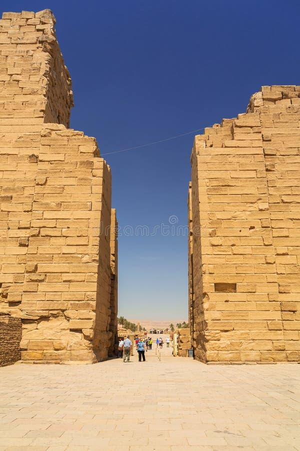 Karnaktempel van Luxor, Egypte stock foto's