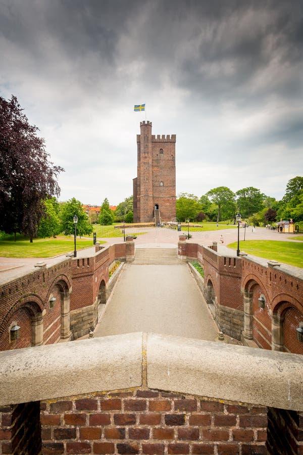Karnan fortyfikacja, Helsingborg, Szwecja zdjęcia royalty free
