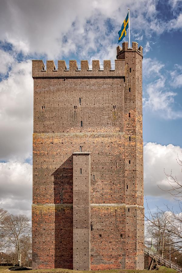 Karnan kasztel w Helsingborg zdjęcia royalty free
