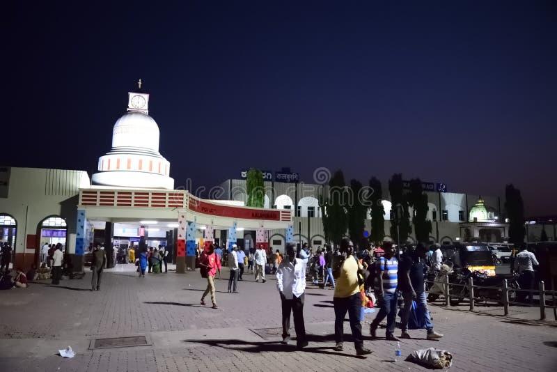 Karnataka Ινδία σιδηροδρομικών σταθμών Gulbarga στοκ εικόνες