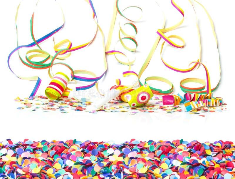 Karnawał, confetti, kolorowy tło zdjęcia royalty free