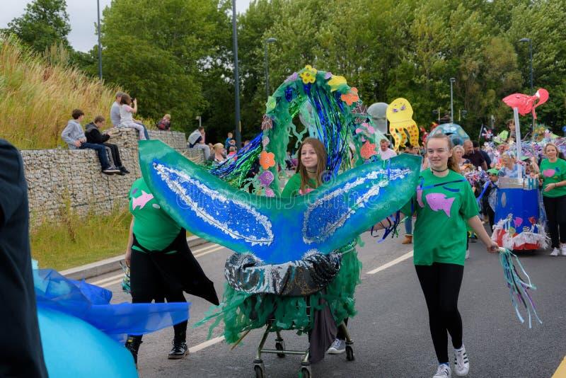 Karnawał giganta festiwalu parada w Telford Shropshire zdjęcia royalty free