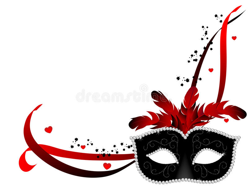 Karnawał maska royalty ilustracja