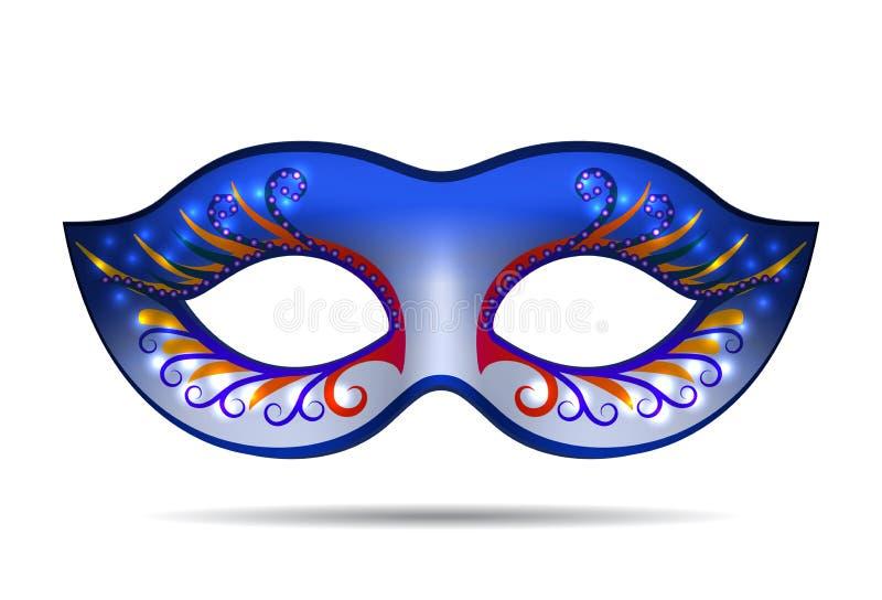 Karnawał maska dla maskaradowego kostiumu royalty ilustracja