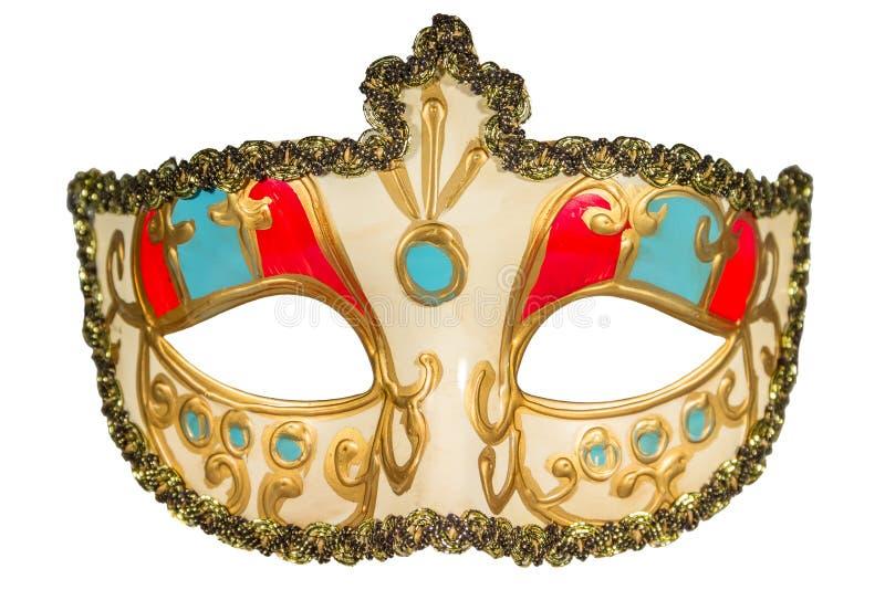 Karnawał maska malował curlicues dekorację błękitny i czerwień ins zdjęcia royalty free