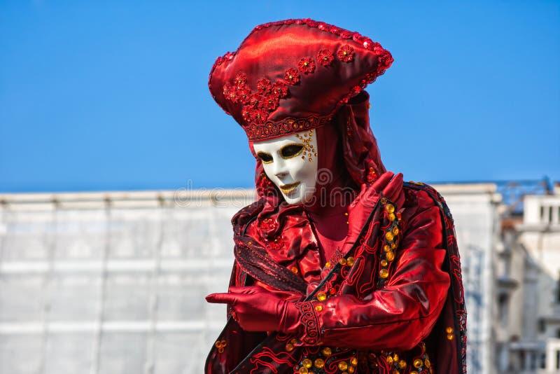 Karnawał maska w St Mark kwadracie, Wenecja, Włochy obraz royalty free