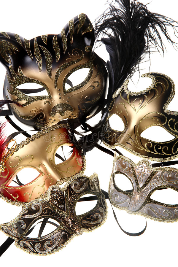 karnawał maskuje różnorodnego zdjęcie royalty free