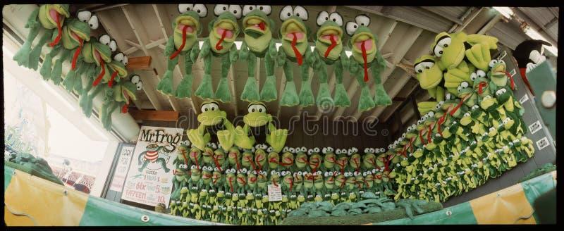 Karnawałowa arkady gra--żaby! obraz stock