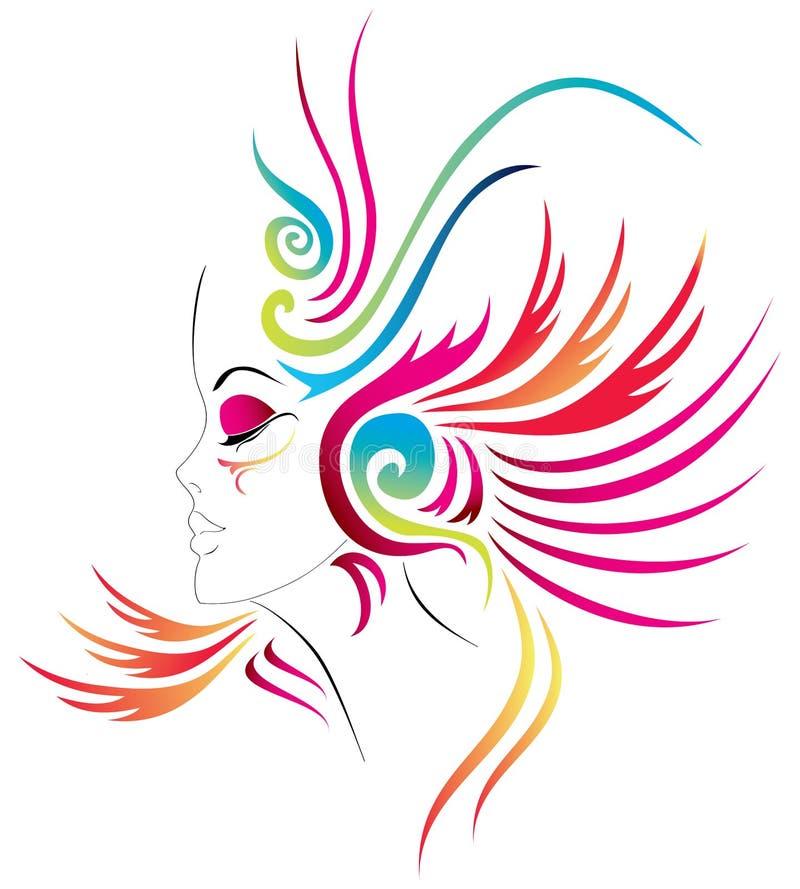 Karnawałowa dziewczyna royalty ilustracja